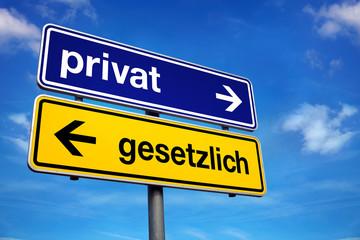 Verkehrsschild Privat Gesetzlich