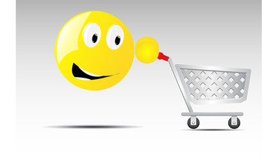 shopping cart smile