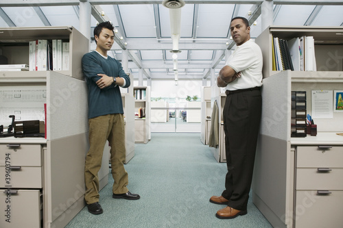 Full length portrait of two businessmen