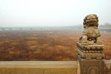Marco Polo Bridge of stone lions