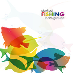 Abstract Fishing Background