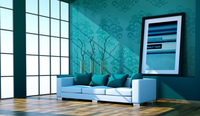 Wohndesign - Sofa am Fenster