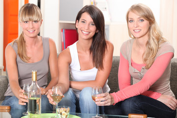 Women having a drink together
