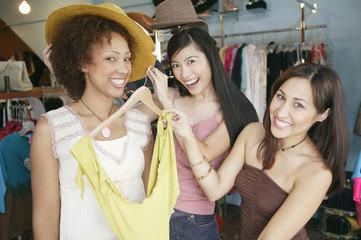 Portrait of three women shopping