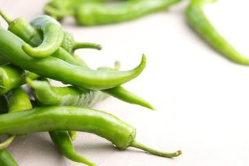 Grüne Spitz-Paprika