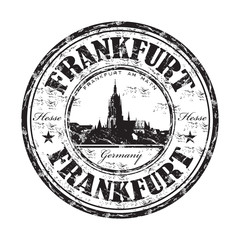 Frankfurt grunge rubber stamp