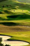 Fototapeta niebieski - chmury - Golf