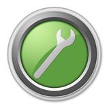 """Green 3D Style Button """"Mechanic"""""""