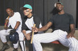 Portrait of baseball players in dugout