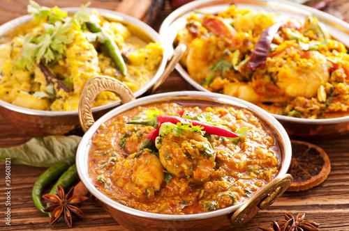Leinwanddruck Bild Indische Küche