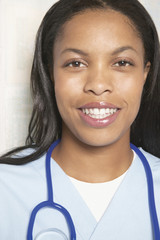 Portrait of female nurse smiling