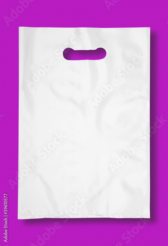 Plastic bag on fuchsia.