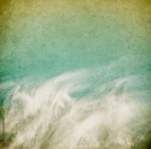Fototapeta Wispy Vintage Clouds