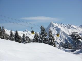 Bergbahn in den Alpen