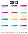 2013 colorful calendar_en