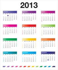 2013 colorful calendar_en
