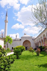 complex of buildings adjacent to a mosque in Turkey
