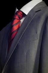 Elegant  businessman in dark suit, business meeting