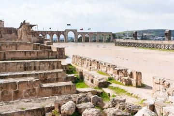circus hippodrome in Greco-Roman city of Gerasa Jerash
