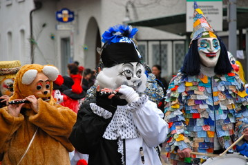 Colourful Masks, Carnival in Riehen, Switzerland