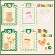etichette baby shower - nascita bimba - biberon, orsetta