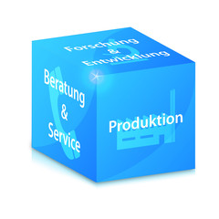 blue glossy business vector cube illustration