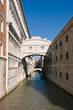 The famous bridge of Sighs in Venice