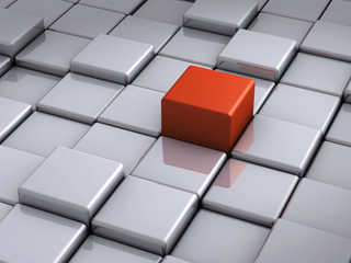 Red cube outstanding