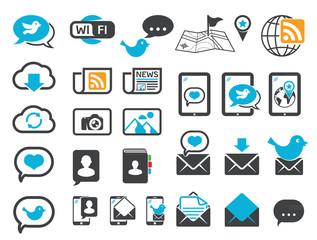 Modern communication icons