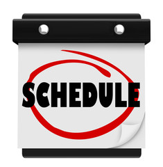 Schedule Word Wall Calendar Remember Appointments