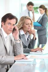 Sales team in office