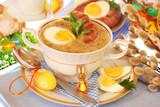 Fototapety easter white borscht