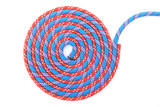 blue and red rope spiral
