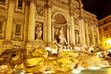 Trevi Fountain - famous landmark in Rome poster