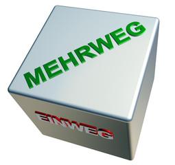 3D ZauberWuerfel - MEHRWEG - EINWEG