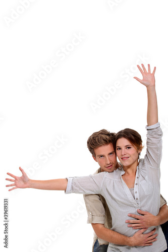 Couple on white background