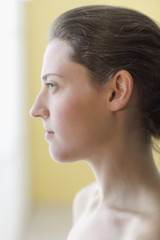 Young woman's profile