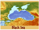 black sea europe water geography poster