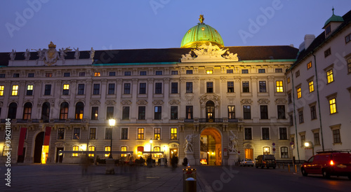 Night view Hofburg Palace.  Vienna