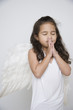 Angel girl praying