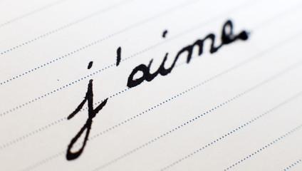 j'aime écriture stylo plume