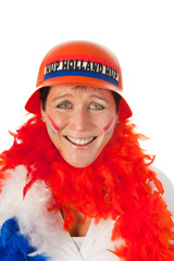 Dutch woman as soccer fan