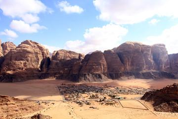Beautiful view of the wadi rum in Jordan