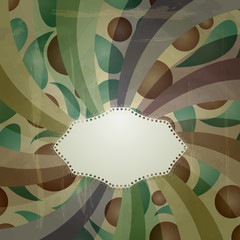 vector retro  abstract background with grungy blots and place fo