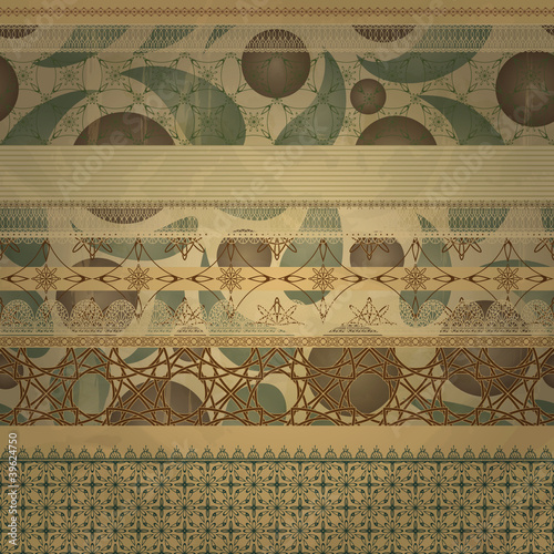 vector retro seamless patterns on abstract seamless background © alexmakarova