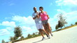 Attractive Ethnic Couple Jogging to Keep Fit