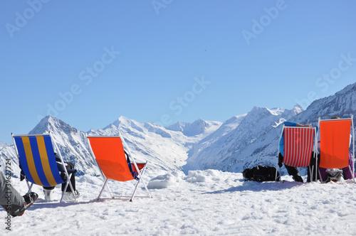 Verschnaufpause im Schnee