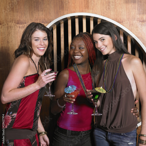 Group of female friends having drinks