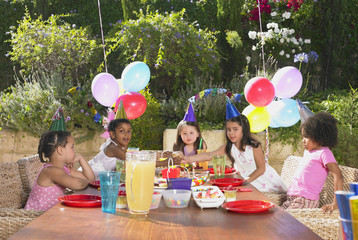 Child's birthday party outdoors