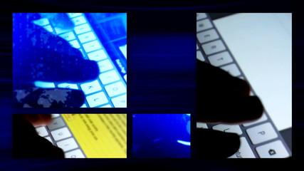 Tablet keyboard split screen 1